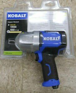 """KOBALT SGY-AIR236 1/2"""" Dr 1000 Ft-Lb Air Impact Wrench 0840780 (0)"""