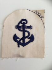 British Royal Navy Anchor Chain Patch Badge Vintage Embroidered