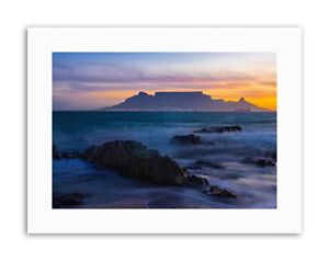 COMPOSITION ATMOSPHERIC TABLE MOUNTAIN SOUTH AFRICA Poster Canvas art Prints
