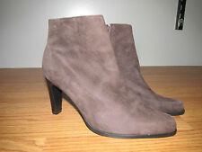 NINE WEST Boots~Womens Size 6~Dk. Brown Suede Leather~GUC