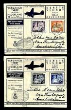 DUTCH INDIES -1937-6-15--2 x SPEC FL CV. DC 3 -SALVATION ARMY VF