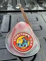 Rare 1950 Vintage Feather Hat Storytown USA Lake George NY
