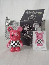 "Disney Vinylmation Urban #5 PINK & CHECKERED PUNK ROCK 3"" Figure + Box + Card"