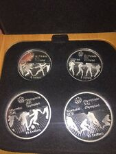 1976 Proof Silver Canadian Montreal Olympic Games Set -4 Coin Set 4.38 Troy Oz