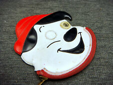 Vintage Coin Purse Walt Disney Pinocchio Vinyl Zippered  Red White