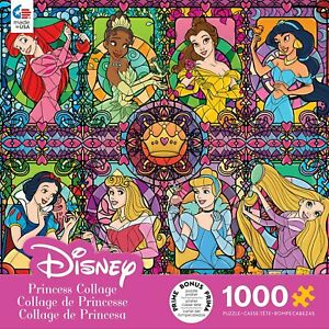 1000 Piece Jigsaw Puzzle Disney Princess Collage Stained Glass Princesses