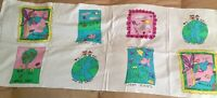 Vintage Tandem Textiles Earthwear Patches Fabric Panel Appliques Earth Day