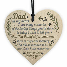 Daddy Dad Gifts for Christmas Birthday Heart From Son Daughter Baby Thank You