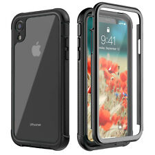 For iPhone X, XR, XS Max Full Body+Screen Protector Clear Shockproof Case Cover