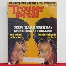 Rolling Stones Trouser Press Magazine Ron Wood Keith Richards Ramones July 1979!