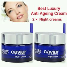 HYALURONIC ACID EXTRACT BEST ANTI AGEING CAVIAR NIGHT CREAM ×2