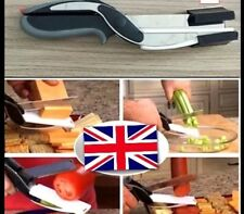 Clever Cutter 2 in 1 Knife Cutting Board Scissors As-Seen On TV FREE UK SELLER