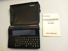 Franklin Language Master Lm4000 Pronouncing Dictionary, Thesaurus w/ Manual/Bag