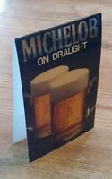 Rare Vintage 1982 Michelob on Draught Beer Bar Table Top Advertising Sign Prop