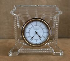 "Waterford 5"" Atrium Clock crystal shelf desk glass pagoda lismore works Ireland"