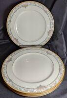 """Set of 4 Noritake BARRYMORE Bone China DINNER PLATES 10 5/8"""" #9737 Ivory Pink"""