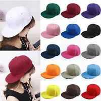 Mens Womens Hip Hop Adjustable Multi-color Plain Blank Baseball Snapback Hat Cap