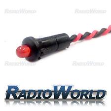 Rojo Intermitente Led Redonda Alarma de automóvil Indicador De Alerta De Luz De Tablero 12v