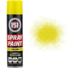 8 x 250ml 151 Giallo Lucido Spray Vernice Macchine Legno Metallo Muri Graffiti