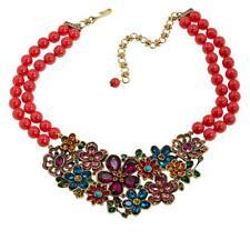 "Heidi Daus ""Flower Show"" 2-Strand Beaded Crystal Drop Necklace HSN"