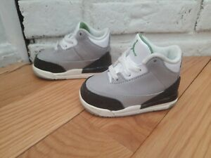 Air Jordan Retro 3 lll Chlorophyll Toddler Shoes Size 4C