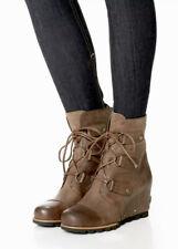NEW! SOREL Joan Of Arctic Wedge Mid Women's 9.5 Tobacco Leather Waterproof Boot
