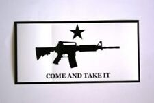 "4"" x 7.5"" Bumper Sticker Come and Take It Machine Gun"