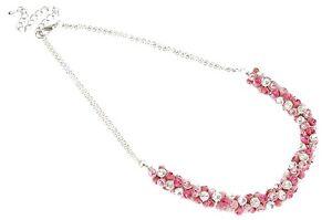 Designer Shabby Chic Summer Enamelled Bling Cones Necklace w/ Swarovski Crystals