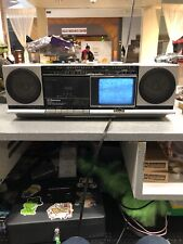 VINTAGE EMERSON BOOMBOX XLC-450 GHETTO BLASTER AM FM CASSETTE TV RADIO 80s