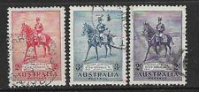 AUSTRALIA- 1935- SILVER JUBILEE SET OF 3 - USED- SG 156/158- CAT £55
