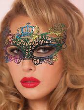 Rainbow Cotton Lace Venetian Masquerade Eye Mask Fancy Dress Costume Accessory