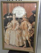 Large Framed Vintage Poster - Carnevale Di Venezia 1990 10-27 Febbraio