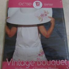 OESD Vintage Bouquet Embroidery Design cd NIP Cutwork Files