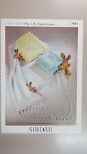 Sirdar Knitting Pattern #3983 Baby Shawls to Knit in Snuggly 3, 4 & 8 Ply Yarn