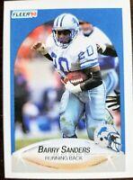 1990 BARRY SANDERS 🔥ROOKIE🔥 ((HOF)) Fleer #284 - Detroit Lions