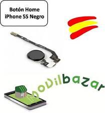 BOTON HOME FLEX IPHONE 5S NEGRO. ENVÍO DESDE ESPAÑA