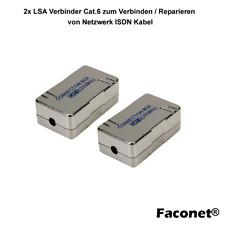 2x LSA Verbinder-Box Cat.6 zum Verbinden / Reparieren von Netzwerk ISDN Kabel