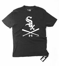 NWT Tri Blend Under Armour Chicago White Sox T-Shirt Small Loose Baseball MLB
