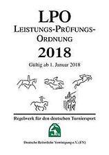 Leistungs-Prüfungs-Ordnung 2018 (LPO) - 9783885424222 PORTOFREI