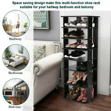 Wooden Shoes Racks Entryway 14 Pair Shoes Storage Stand 7 Tiers Shelf Organizer