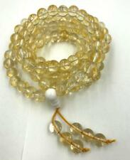 8 mm108 natural Citrine Stone mala bracelet chakra meditation yoga necklace