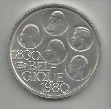 57D) BELGIQUE 500 FRANCS 1980 - SILVER CLAD CU/NI - UNC