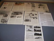 VINTAGE..AERO MACCHI RACE PLANE  HISTORY..HISTORY/DETAILS/VARIANTS..RARE! (41K)