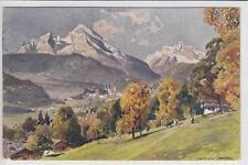 AK Berchtesgaden mit Watzmann und Hochkalter, Kunst-AK 1921