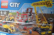 LEGO CITY-n° 66521-3 en1-PACK DE DEMOLITION TRES COMPLET !!! 6/12ANS