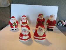 8 Pc. Collectible Ceramic Santa Christmas S&P Shakers Holiday Decorations