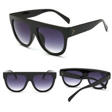 Oversized Flat Top Shadow Shield Designer Celebrity Men Ladies Women Sunglasses