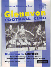 1996/97 Glenavon v Linfield - Irish League - 7th Dec - Vol 15 No 10