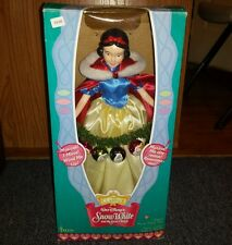 Disney Classics Snow White Christmas Doll Telco Musical Display Figurine