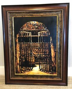 Fabian Perez WINE CELLAR Framed and Signed Ltd Edition Giclee on Canvas